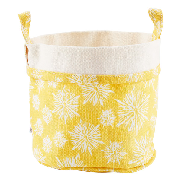 Fabric Bucket Starburst Yellow