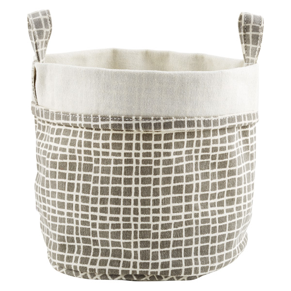 Fabric Bucket Weaved Grey