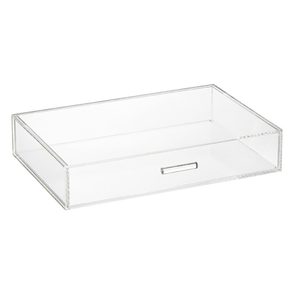 Luxe Acrylic Modular Wide Drawer Clear