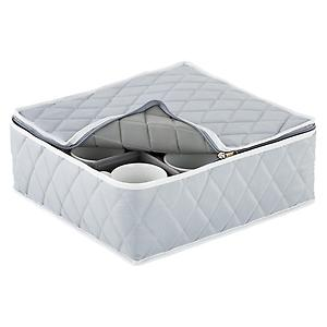 Quilted Cup Storage Case Grey