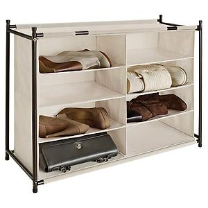 8-Section Shoe & Handbag Cubby Natural