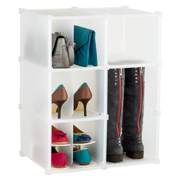 6-Section Shoe/Accessory Grid Translucent