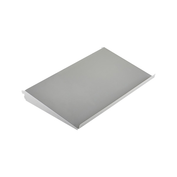 "2' x 13-3/4"" elfa Angled Solid Metal Shelf Platinum"