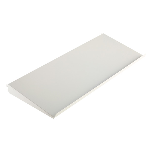 "3' x 13-3/4"" x 2"" h elfa Angled Solid Metal Shelf White"