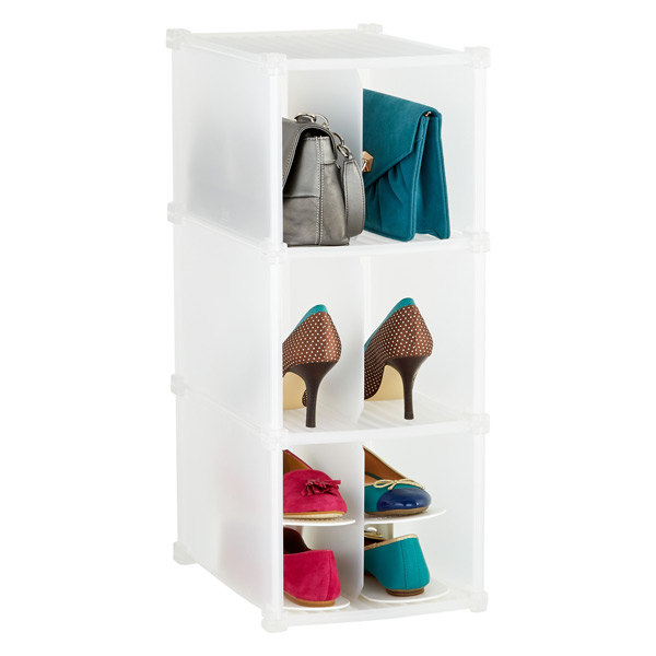 3-Section Shoe/Accessory Grid Translucent