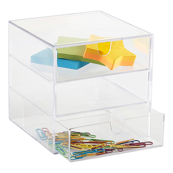 3-Drawer Box Clear