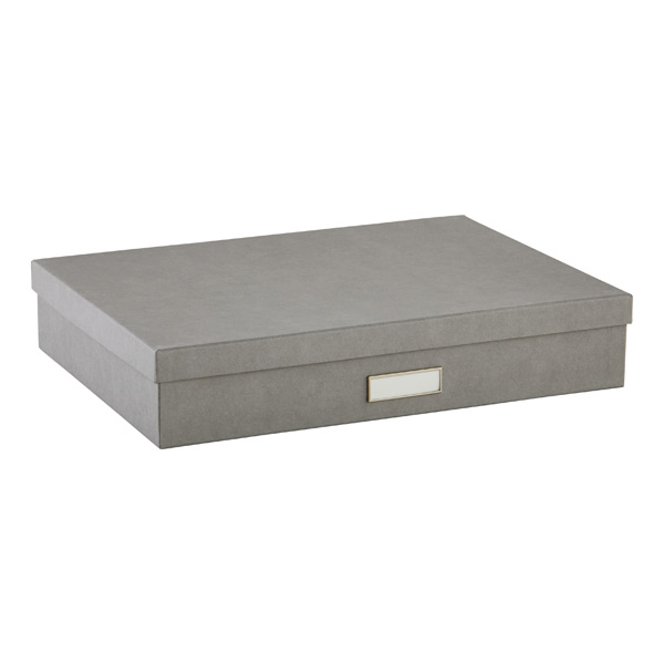 Bigso™ Stockholm Document Box Grey