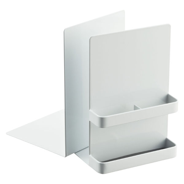 Tower Bookend White Set of 2