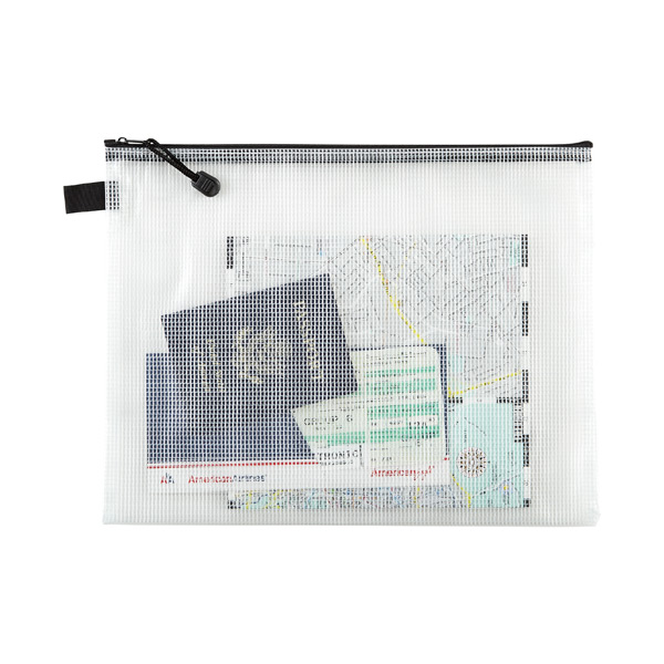 Pro Art Mesh//Vinyl Bag with Zipper 10 by 13-Inch