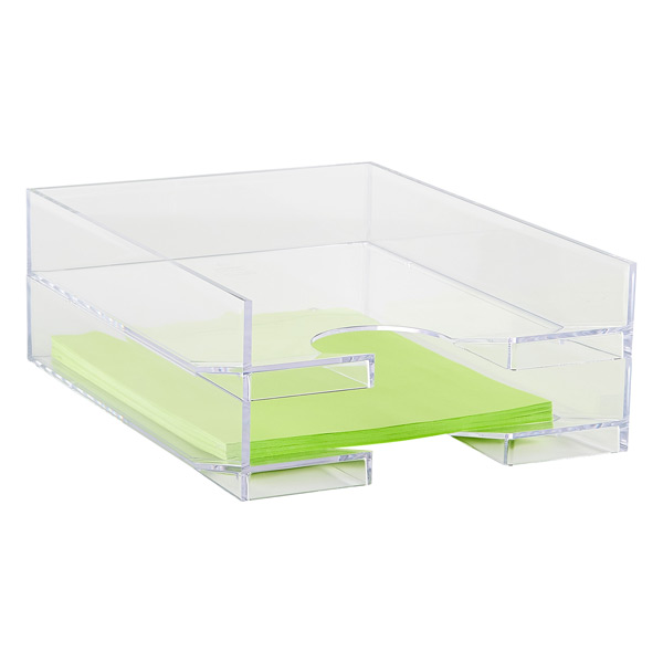 clear stacking letter tray