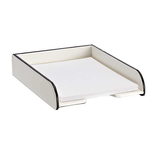 Mercer Letter Tray Ivory/Black