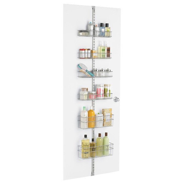 elfa Bath Door & Wall Rack Platinum