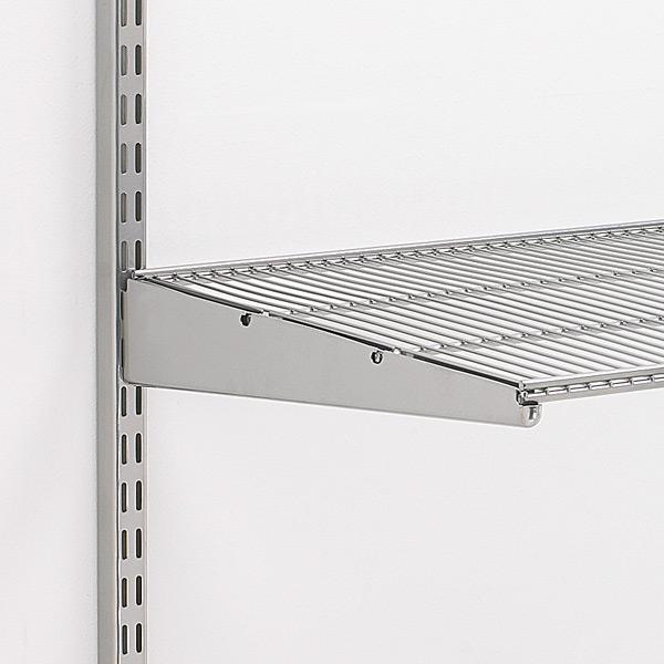 Captivating Platinum Elfa Ventilated Wire Shelves