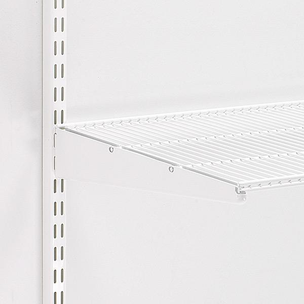White Elfa Ventilated Wire Shelves