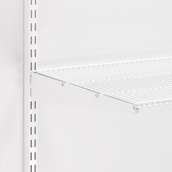 White elfa Ventilated Wire Shelf Brackets | The Container Store