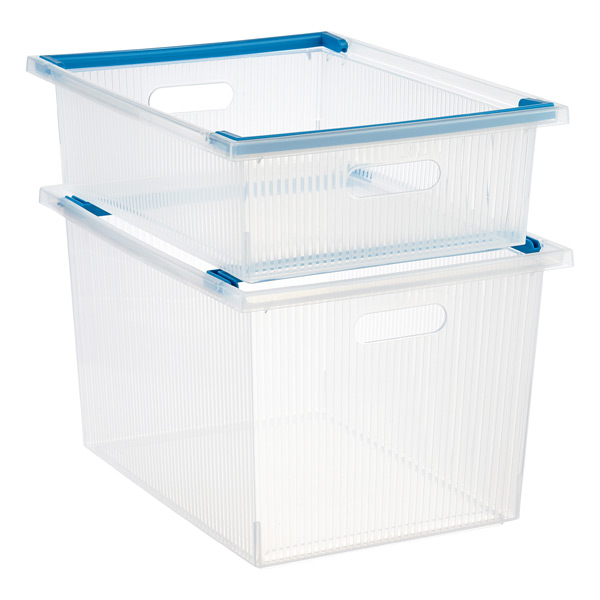 Stacking Bins with Handles