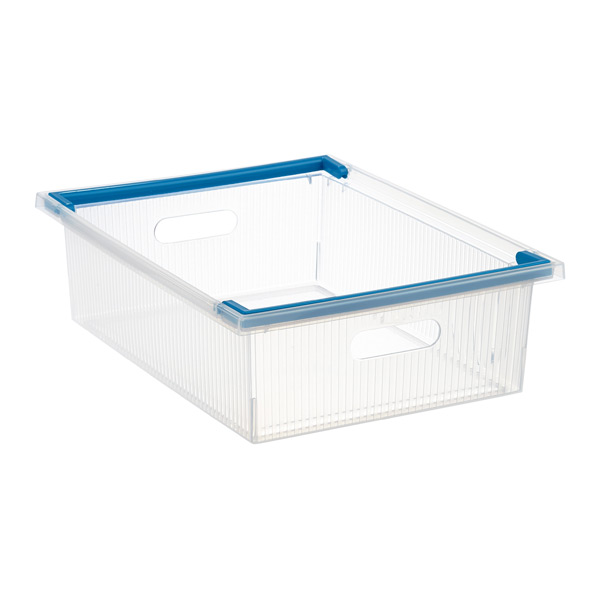 Shallow Stacking Bin w/ Handles Translucent