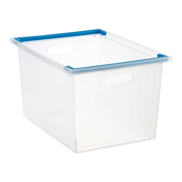 Deep Stacking Bin w/ Handles Translucent