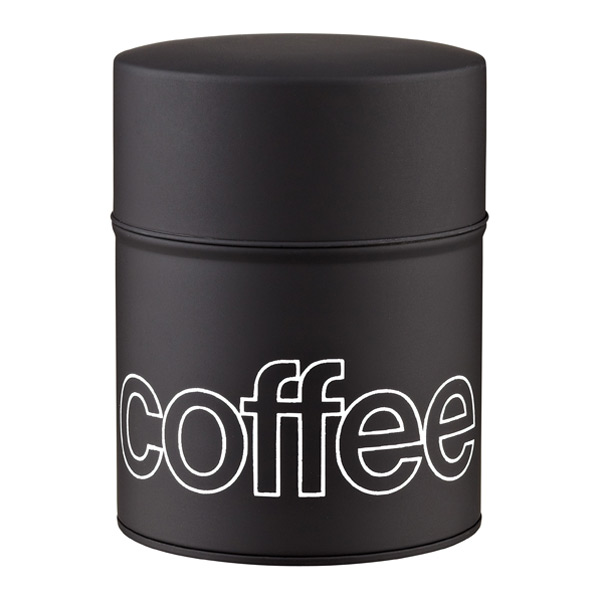 13.2 oz. Tin Coffee Canister Black Matte