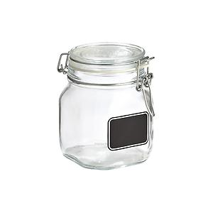 25 oz. Hermetic Jar w/ Chalk Label 750 ml.