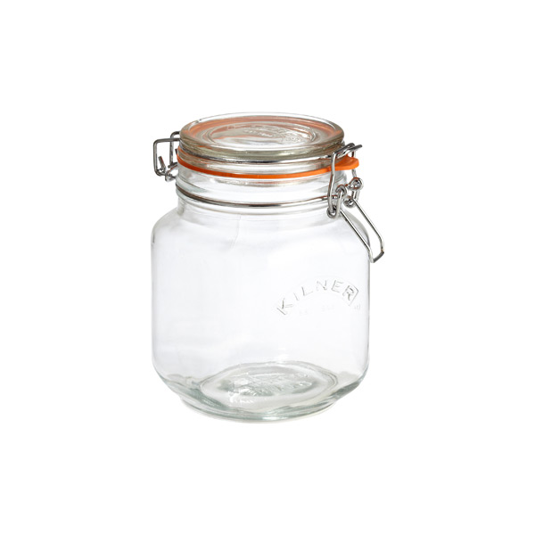 34 oz. Square Hermetic Canning Jar 1 ltr.
