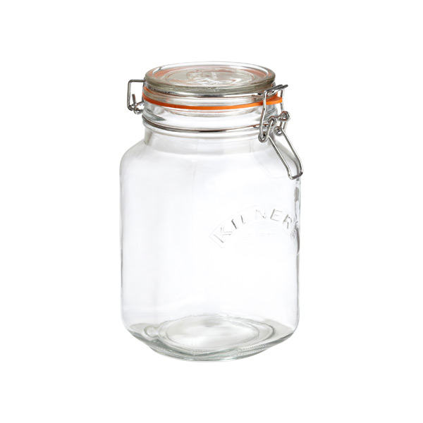 1.6 qt. Square Hermetic Storage Jar 1.5 ltr.