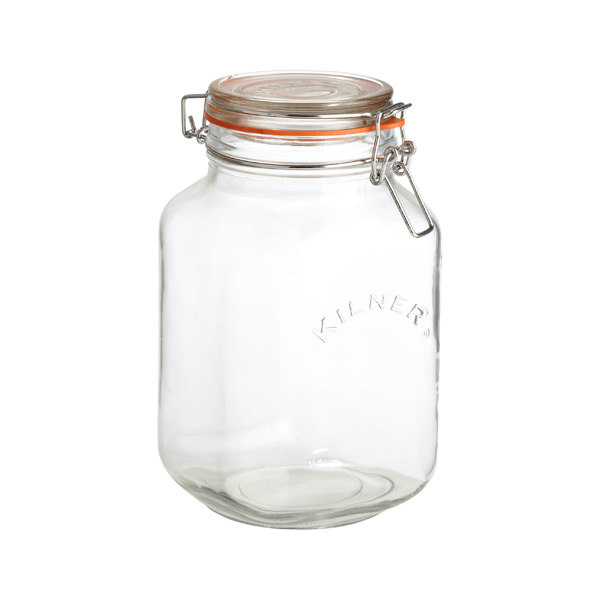 2.1 qt. Square Hermetic Canning Jar 2 ltr.