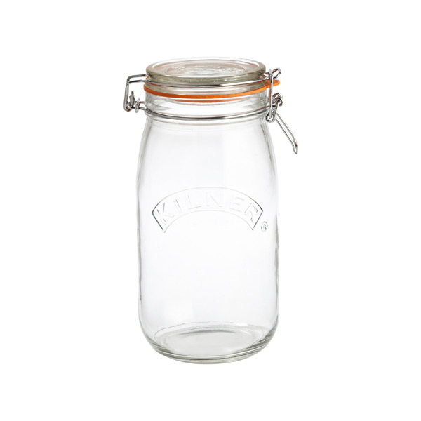 1.6 qt. Round Hermetic Canning Jar 1.5 ltr.
