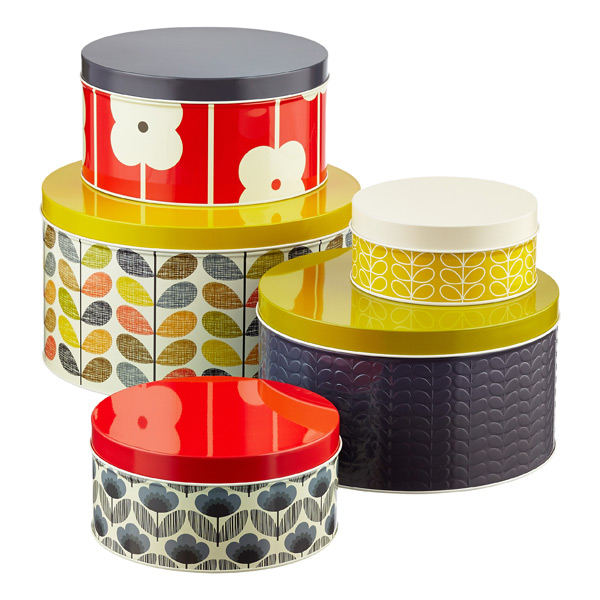 Orla Kiely Round Cake Tins Assorted Patterns Set of 5