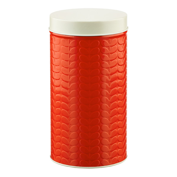 Orla Kiely Embossed Stems Round Canister Geranium