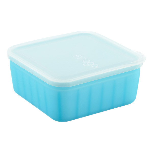16 oz. frego® Glass & Silicone Square Blue