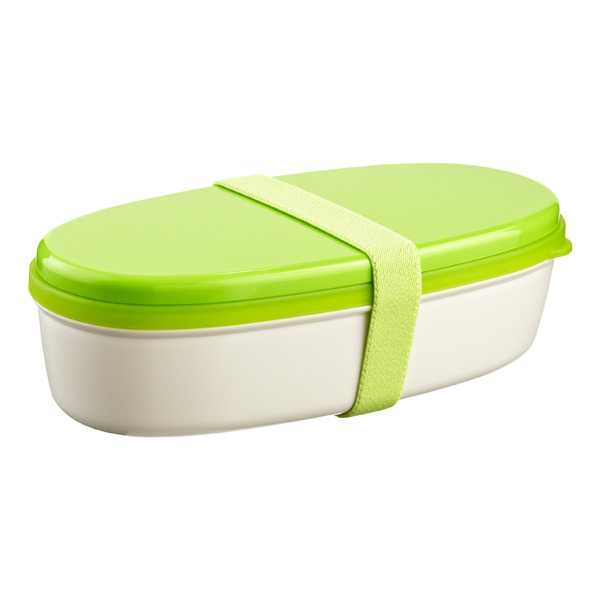 18 oz. Bento Lunch Set Green Lid