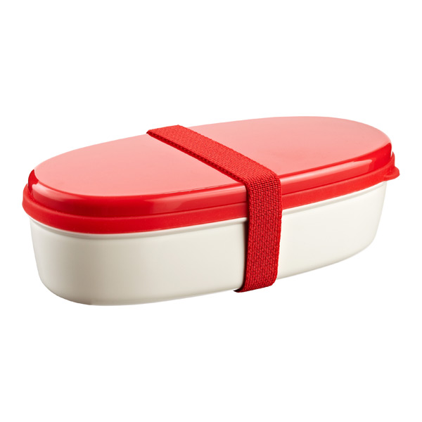 18 oz. Bento Lunch Set Red Lid