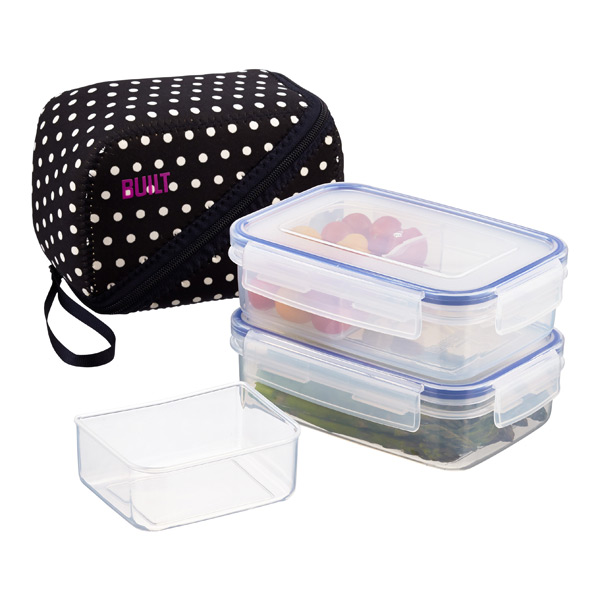 Bento Lunch Box Mini Dot Set of 2