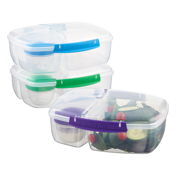 Sistema Lunch Triple Split Bento Box The Container Store