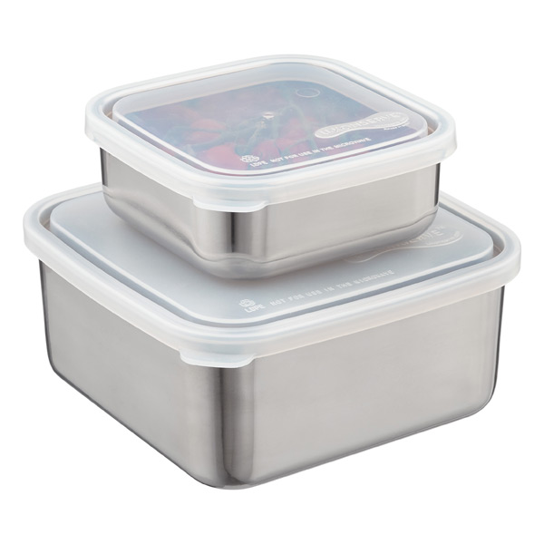 Stainless Steel Square to Go Containers The Container Store