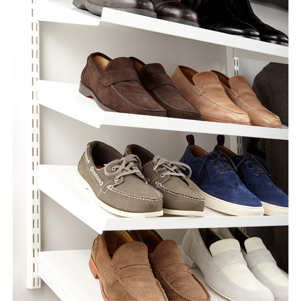Image Result For Angled Shoe Shelves