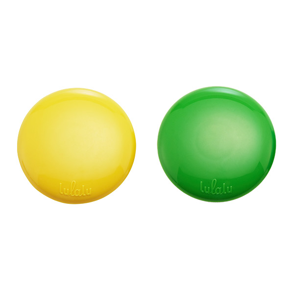Lulalu® 360 Click Clips Green Apple/ Lemon Pkg/2