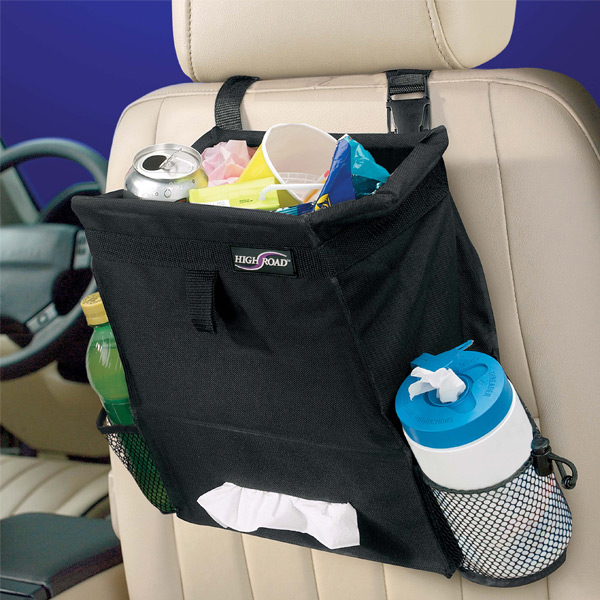 Auto Litterbag & Tissue Holder Black
