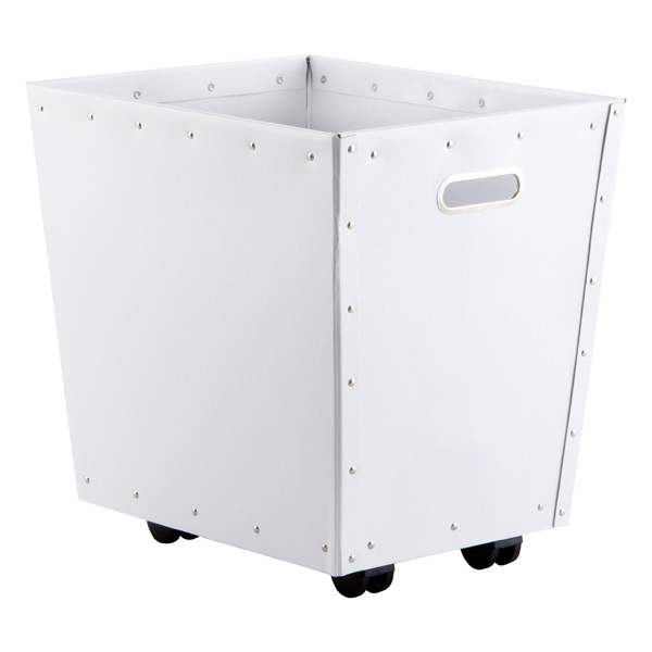 Bigso™ Open Bin with Wheels White