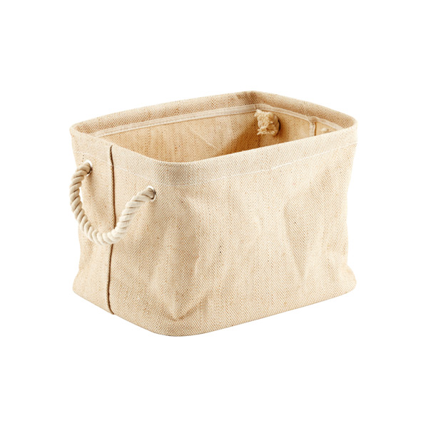 Small Jute Bin with Rope Handle