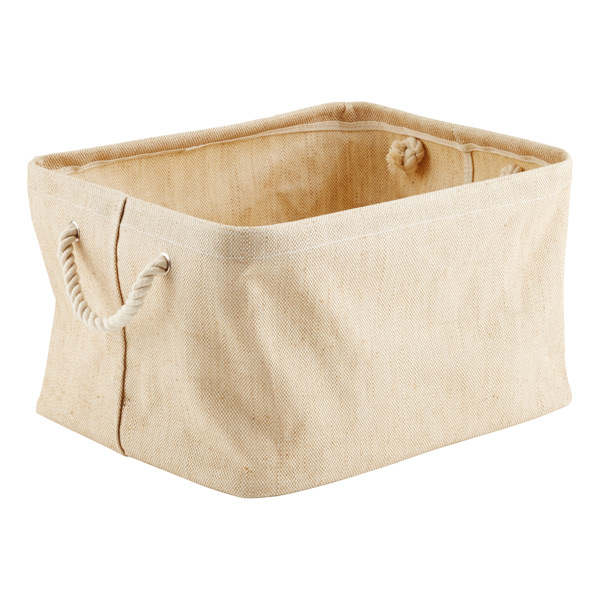 Large Jute Bin with Rope Handle