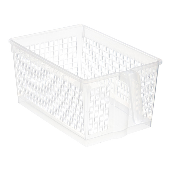 Large Handled Storage Basket Clear ...  sc 1 st  The Container Store & Clear Handled Storage Baskets | The Container Store
