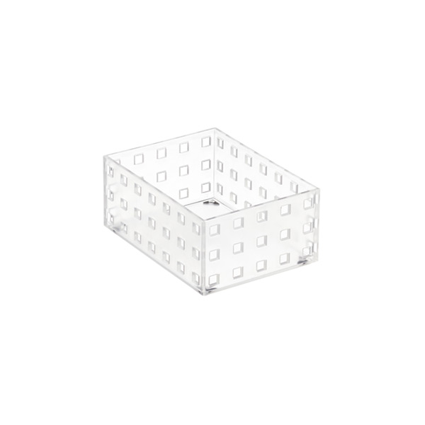 "Like-it® Bricks 4"" Medium Short Bin Translucent"