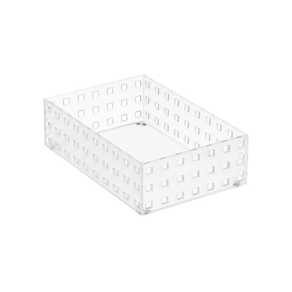 "Like-it Bricks 8-1/4"" Medium Short Bin Translucent"