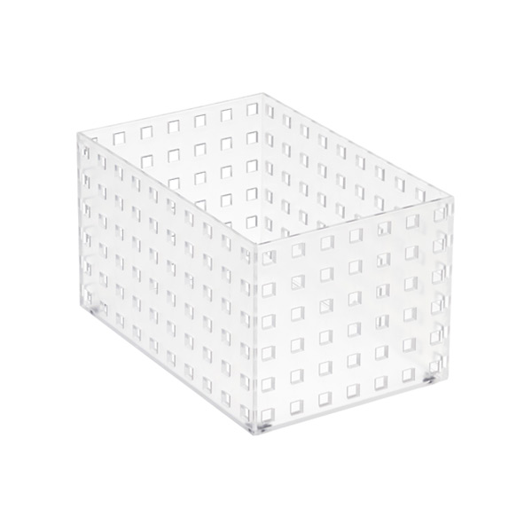 "Like-it® Bricks 8-1/4"" Medium Tall Bin Translucent"