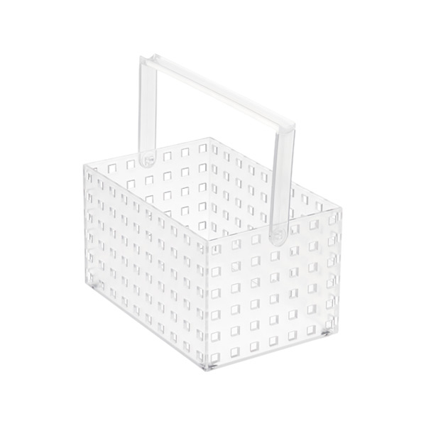 "Like-it® Bricks 8-1/4"" Medium Tall Tote Translucent"