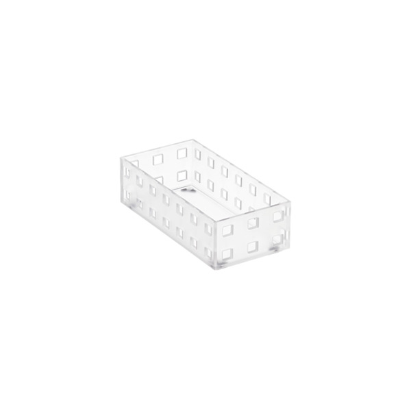 "Like-it® Bricks 5-1/2"" Narrow Shallow Bin Translucent"