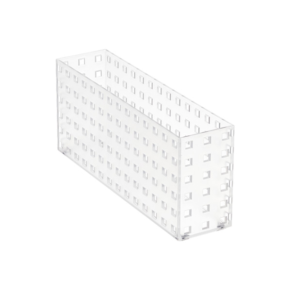"Like-it® Bricks 11"" Narrow Deep Bin Translucent"