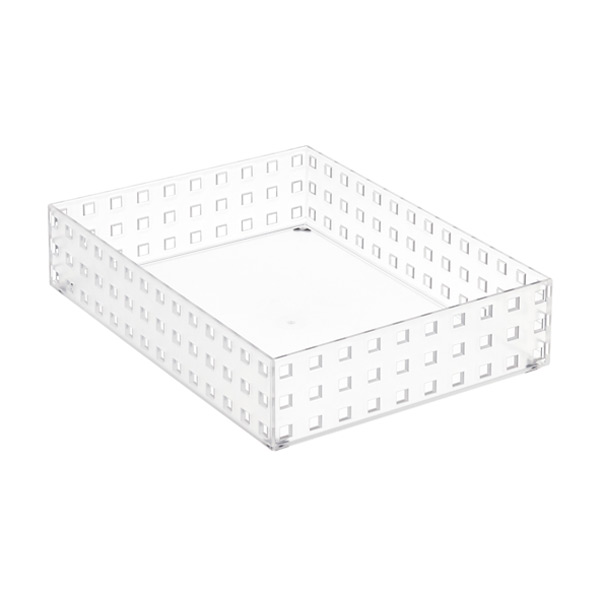 "Like-it® Bricks 11"" Wide Short Bin Translucent"